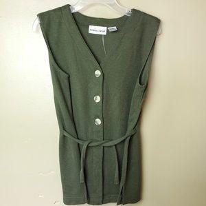 Cristina womens olive green top sleeveless
